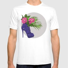 Thank you for flowers MEDIUM Mens Fitted Tee White
