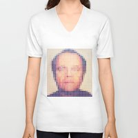 jack nicholson V-neck T-shirts featuring Jack of dots by lev man