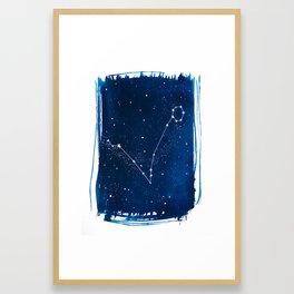 Pisces Zodiac Print Framed Art Print