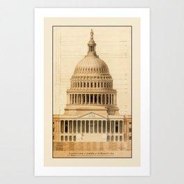 U.S. Capitol Building 1 Art Print