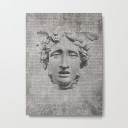 ANCIENT / Head of Medusa Metal Print