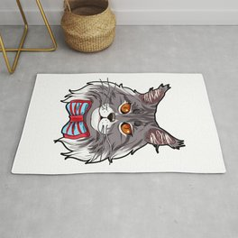 Maine Coon Cat Face Cats Love cute funny lovely Rug