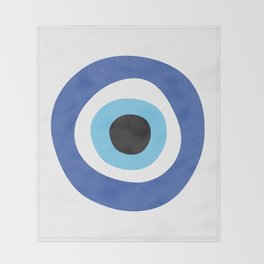 Evi Eye Symbol Throw Blanket