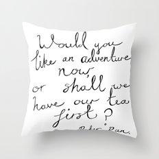 Peter Pan Adventure Throw Pillow