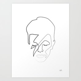db as black Art Print