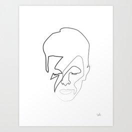 db as black Art Print