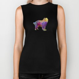 Caucasian Shepherd Dog in watercolor Biker Tank