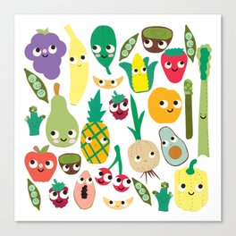 Fruit And Veggie Madness Canvas Print
