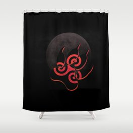 """Teen Wolf-""""There's a Bad Moon on the Rise"""" Shower Curtain"""