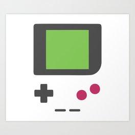 Retro Gamer: Vintage Mobile Gaming Device Art Print