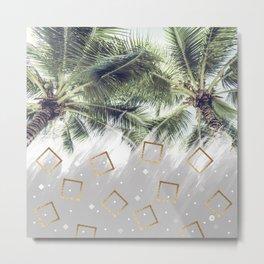 Palm trees and rhombuses Metal Print