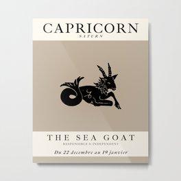 Minimalist Capricorn Metal Print