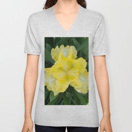 Yellow Iris by Teresa Thompson Unisex V-Neck