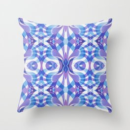 Floral Geometric Abstract G288 Throw Pillow