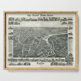 Vintage Pictorial Map of Exeter NH (1896) Serving Tray