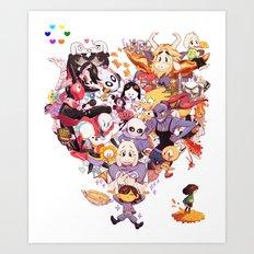 Undertale heart Art Print