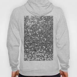 Chic faux silver abstract sequins glitter modern pattern Hoody