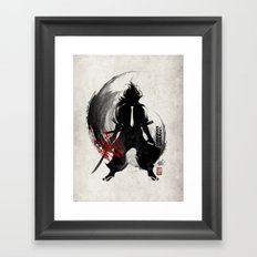 Corporate Samurai Framed Art Print