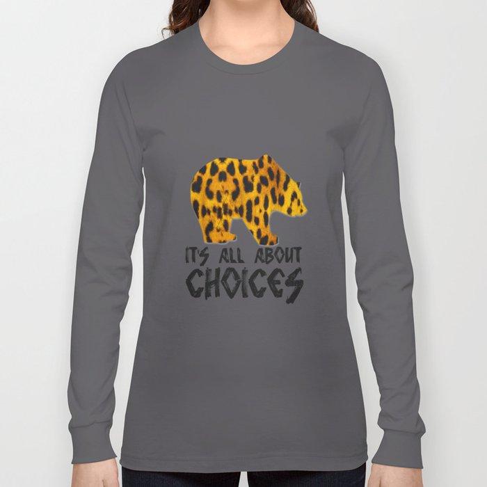 Bear Leopard Long Sleeve T-shirt