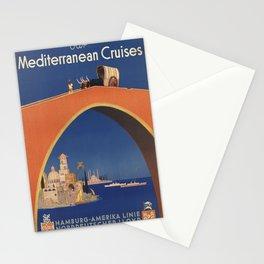Vintage poster - Mediterranean Cruises Stationery Cards