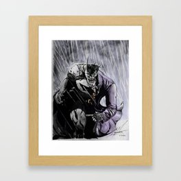 Bats and joker Framed Art Print