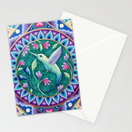 Hummingbird Mandala Stationery Cards