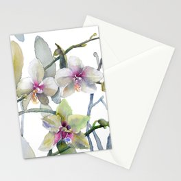 White and Pink Magnolias, Goldfish hiding, Surreal Stationery Cards