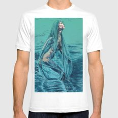 Danaë's Immaculate Conception (Revised) White Mens Fitted Tee X-LARGE