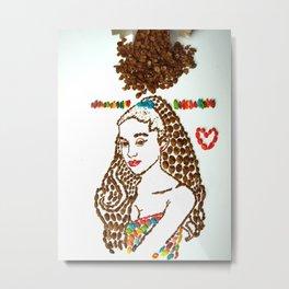 Arianna G Fruity Pebbles Art Metal Print