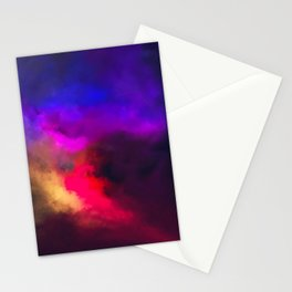 Violet, Red and Yellow Study Stationery Cards