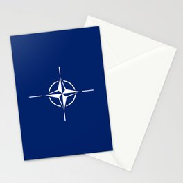 flag of nato Stationery Cards