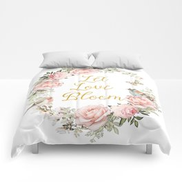 Let love bloom Comforters