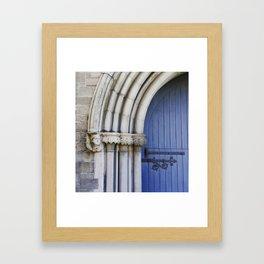 Blue arched door Framed Art Print