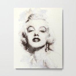 Marilyn portrait 02 Metal Print