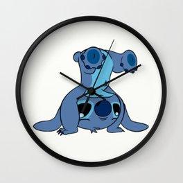 Stitch upside down Wall Clock