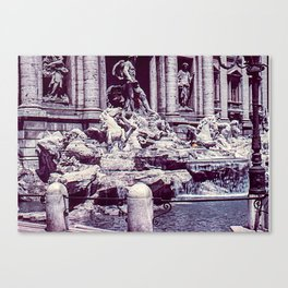 Vintage Photo * 1940's * Fontana di Trevi * Trevi Fountain * Rome * Italy Canvas Print