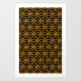Golden Pattern Art Print