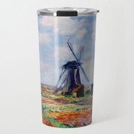 Claude Monet Tulip Field In Holland Travel Mug