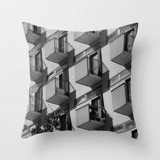 Serial balconies Throw Pillow