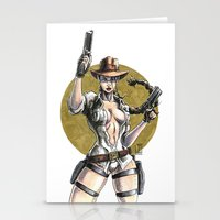 lara croft Stationery Cards featuring Lara Croft Indy by Juan Pablo Cortes