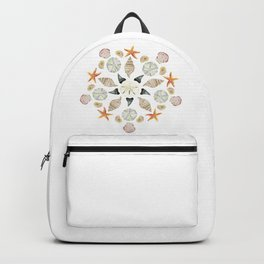 Florida Beachcombing Mandala 1 - Watercolor Backpack