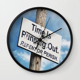 Repent or Perish Wall Clock