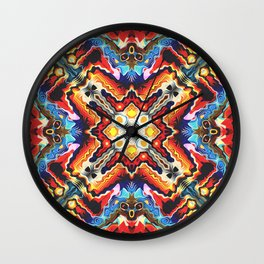 Colorful Tribal Motif Wall Clock