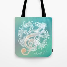 Music Notes - Crystal Tote Bag