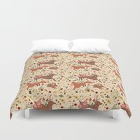 woodland Duvet Covers featuring Woodland by Sophie Eves