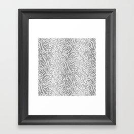Celtic Warlord silver Framed Art Print