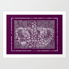 CRACKED CROWN  Art Print