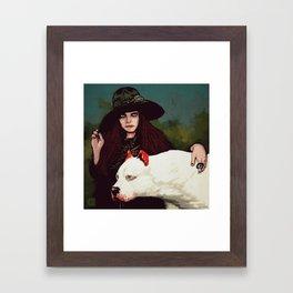 Cŵn Annwn (with Mallt-y-Nos)  Framed Art Print