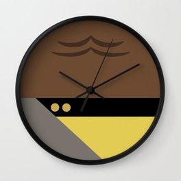 Worf - Minimalist Star Trek TNG The Next Generation - Enterprise 1701 D - startrek - Trektangles Wall Clock