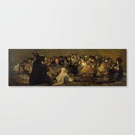 """Francisco Goya """"El Gran Cabrón o Aquelarre (The Great He-Goat or Witches Sabbath)"""" Canvas Print"""
